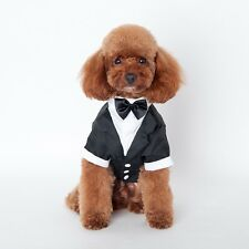Pet Suit Gentleman Small Dog Cat Clothes Puppy Coats Jackets Teddy Shirts Prince
