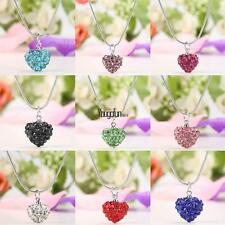 New 1PC Women Charming Heart Pendant Necklace Link Chain Resin HYFG