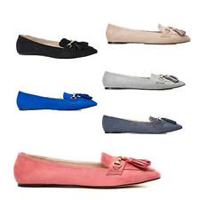 WOMENS LADIES WORK SCHOOL SLIP ON TASSEL LOAFERS PUMPS MOCCASINS SHOES SIZE 3-8