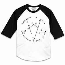 Pins & Bones Gothic Clothing, Connect The Dots Pentagram  Baseball T Shirt