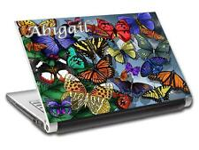 Butterflies Personalized LAPTOP Skin Decal Vinyl Sticker ANY NAME L501