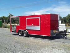 8 x 20 enclosed concession bbq porch trailer new 2017 vending tailgating w sinks