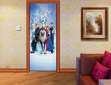 Frozen Elsa DOOR WRAP Decal Wall Sticker Mural Personalized ANY NAME Disney D07