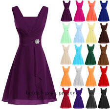 New Stock Short Bridesmaid Homecoming Ball Gown Formal Prom Cocktail Party Dress