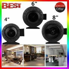 "Strong CFM 4"" 6"" 8"" Inch Inline Fan Hydroponics Exhaust Fan Duct Cooling Fan MAX"
