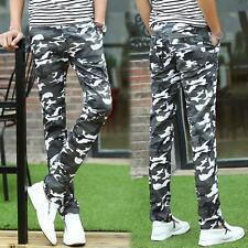 Men's slim elastic korean fashion camouflage skinny Casual sport pants trousers