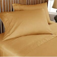 Hotel Bedding CollectionDuvet/Fitted/Flat 1000TC Egyptian Cotton Gold Solid*