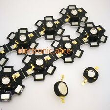 3W High Power UV ultraviolet 365nm 380nm 395nm black LED Lamp Light on 20mm pcb