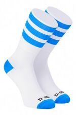Cycling Socks Online. White and Blue Stripe Cycling Socks. Road / MTB / Bike.