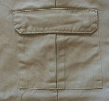 Cargo Work Pants by Red Kap (Khaki) SNAP or BUTTON SIDE-POCKET CLOSURE