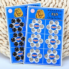 36Pcs Metal Snap New Button Snap Fasteners Sewing Accessory Press Metal