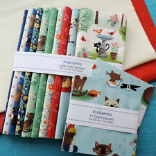 """Makower Crafty Cats ~ Quilt Fabrics 20 Pieces 5"""" Charm ~ 20 x 10"""" Layer Squares"""