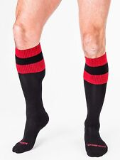 BARCODE BERLIN Socks Over the knee Long Black/Red Football socks