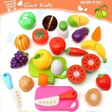 Kitchen Fruit Vegetables Food Toy Cutting Set Kids Pretend Role Play Gifts