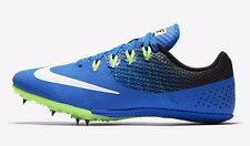 Nike ZOOM RIVAL S-8 MEN'S SPRINT SPIKE SHOES, COBALT/BLACK - Size US 12 Or 14