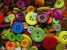 Buttons Harlequin mix Yellow Wine Blue colours 50g 100g mixed button sizes