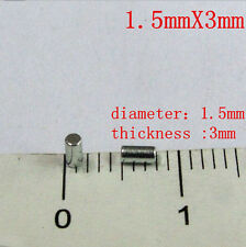 D1.5 x3mm cylindrical Neo powerful industrial N35 neodymium rare earth magnet N3
