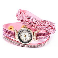 Women Bracelet Quartz Wrist Watch Rhinestone Decorated Life water resistant