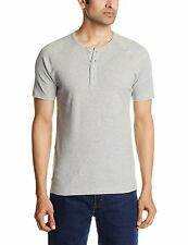 Levi's Gray Solid Henley T-Shirt
