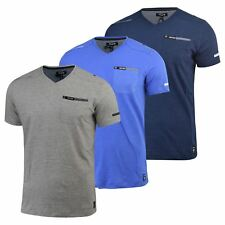 Firetrap Mens T-shirt New Adversane Plain Vee Neck Casual Cotton Tee