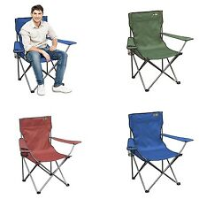 Folding Camping Chair Picnic Outdoor Portable Beach Seat Lawn Patio BBQ Heavy