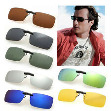 1pc Multi Polarized Clip on wear over sunglass glasses eyeglass spectacle lens