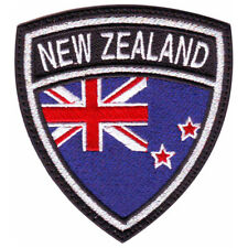 NEW ZEALAND CREST FLAG EMBROIDERED PATCH