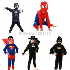 Spiderman Superman Costume Batman Kids Cosplay Halloween Boys Party Fancy Girls