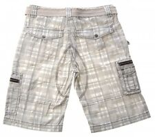 Baggy Men's Grey Purple Shorts checked Shorts removable Belt Bermuda