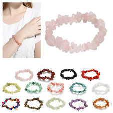 Exquisite Stretch Chipped Beads Artificial Stone Quartz Crystal Healing Bracelet