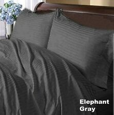 Gray Stripe Complete Bedding Collection 1000 TC 100%Egyptian Cotton Double Size!
