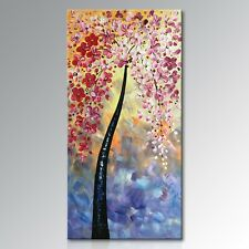 Framed !!! Handmade Modern Textured Wall Art Abstract Oil Painting on Canvas