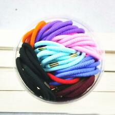 70pcs Metal Buckle Elastic Hair Rubber Bands Ponytail Holder Hair Accessories