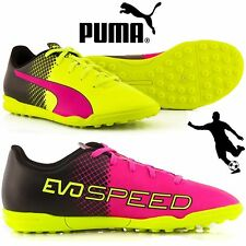 Puma Evo Speed 5.5 Tricks TT Kids Junior Football Boots UK Sizes Yellow rrp £25