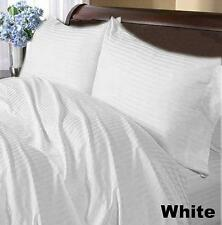 DUVET/FITTED/FLAT/PILLOW 1000 TC EGYPTIAN COTTON ALL SIZE WHITE STRIPED