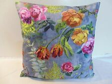 Designers Guild  floral 100% Cotton Fabric Tulipai Graphite Cushion Cover