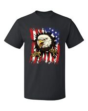 Eagle Ripping Through The American Flag Men's T-shirt patriotic USA tee