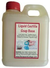 Organic Castile Liquid Soap Base CONCENTRATE 2.5 X DIY Hand Body Wash Unscented