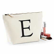 Personalised Make Up Wash Bag ANY LETTER Kids Birthday Gift For Her Present NEW