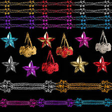 DP Christmas Foil Ceiling Decorations Garland Tree Star - Choose Colour