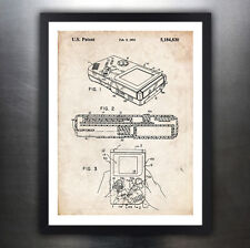 NINTENDO GAME BOY 1993 PATENT ART PRINT POSTER GIFT HANDHELD VIDEO GAME GAMEBOY