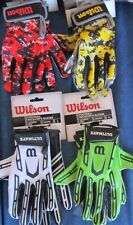 Wilson Super Grip Football Receiver's Gloves Silicone Palm Youth & Adult Sizes