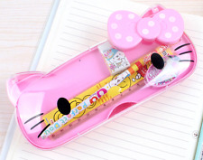 New  Bow Cute HelloKitty Hard Shell Glasses Eyeglass pencil Case Box lyo-P57