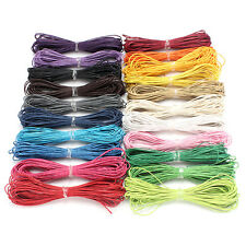 10M 1mm Waxed Cotton Cord String Linen Thread Wire Jewelry Bracelet Making DIY