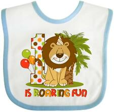 Inktastic Cute Lion 1st Birthday Baby Bib King Of The Jungle Safari Wild Zoo Fun