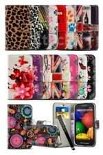 HTC Desire 620 - Printed Pattern Lush Design Book Wallet Case Cover & Stylus