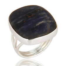 Natural Sodalite Gemstone Solid 925 Sterling Silver Ring Handmade Jewelry