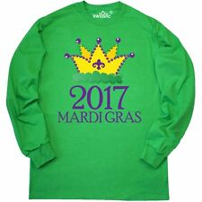 Inktastic 2017 Mardi Gras King Queen Crown Long Sleeve T-Shirt Party Celebration