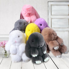 Cute Rabbit Fur Pom Pom Keychain Rabbit Key Chain Toy Kids Doll Bag Car Key Ring
