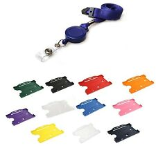 Retractable Neck Lanyard, Neck Strap & Badge Reel & ID Card Holder - FREE P&P!!